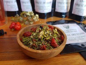 Tasmanian pepperberry, kunzea rosehip tea