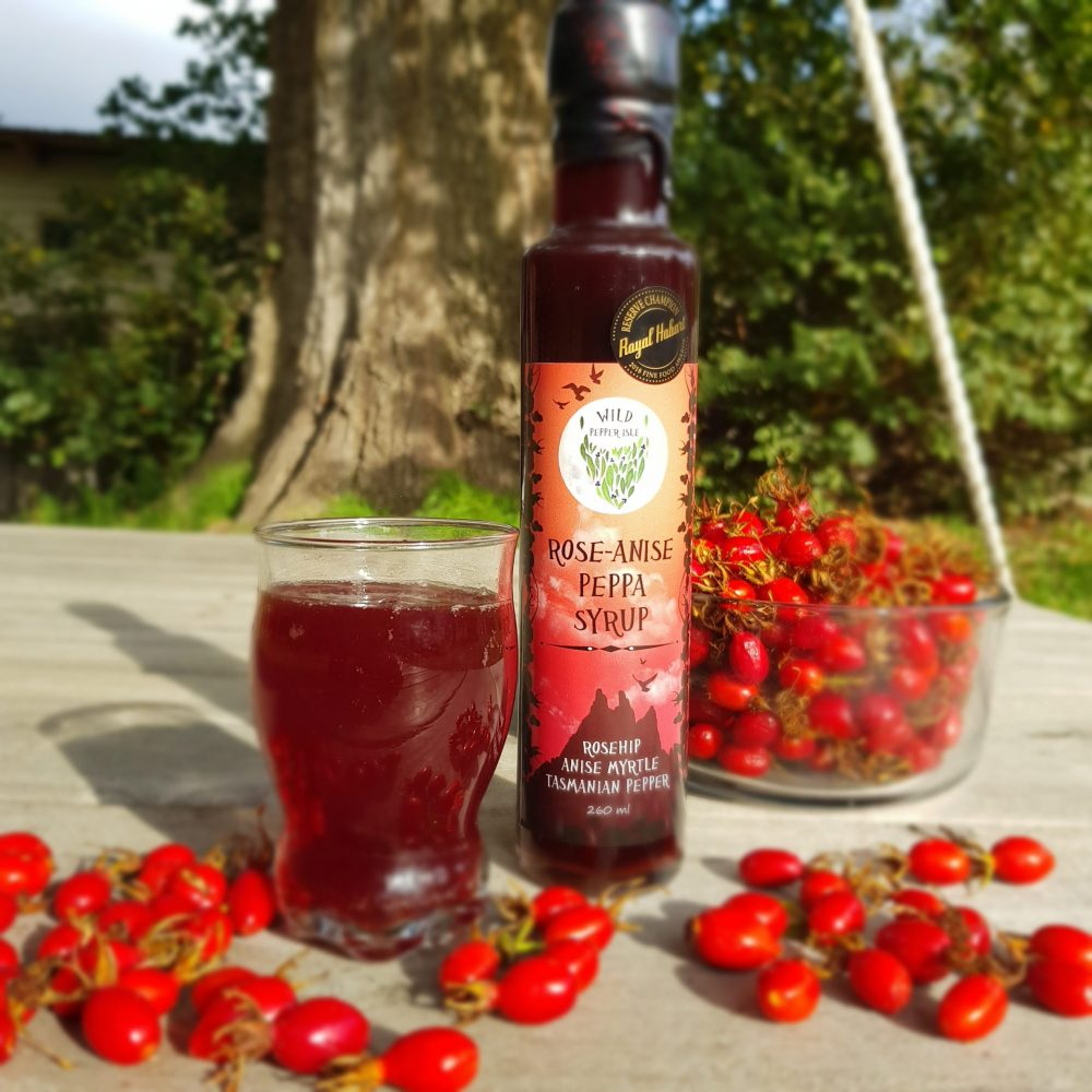 rosehip pepperberry  anise myrtle syrup  wild pepper isle