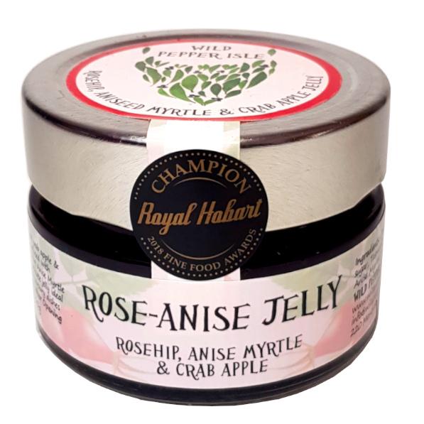 Rose-anise jelly jar