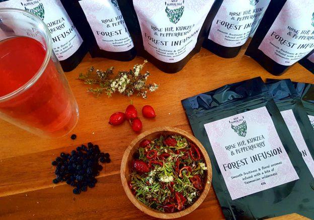 Rosehip, pepperberry kunzea tea