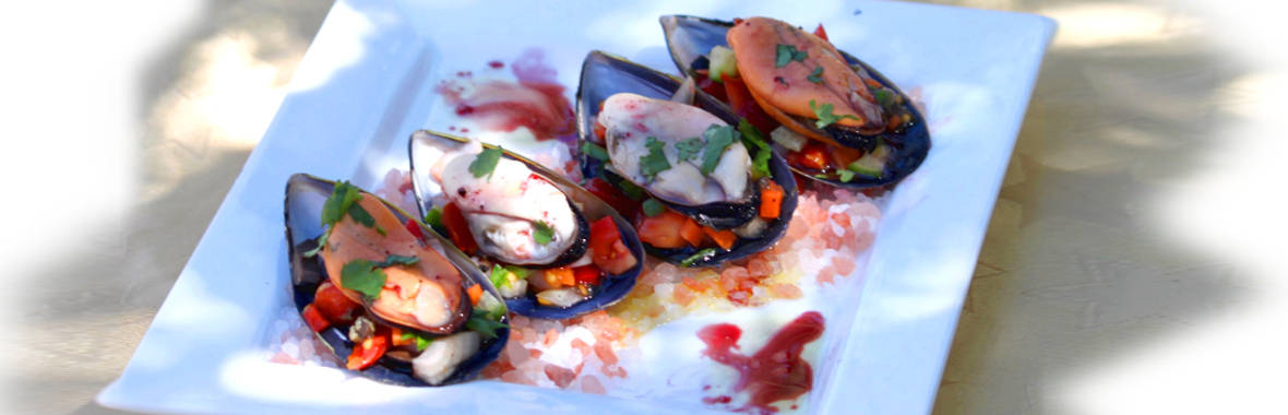 Pepperberry infused Tasmanian Mussels
