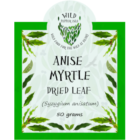 Anise myrtle - dried leaf - product label