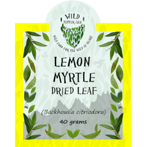 Lemon myrtle dried leaf product label