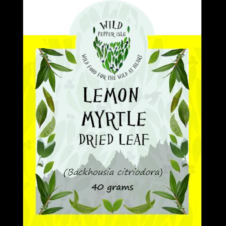 Lemon myrtle dried leaf product label