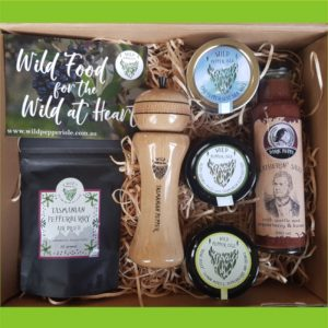 Pepperberry products in a box